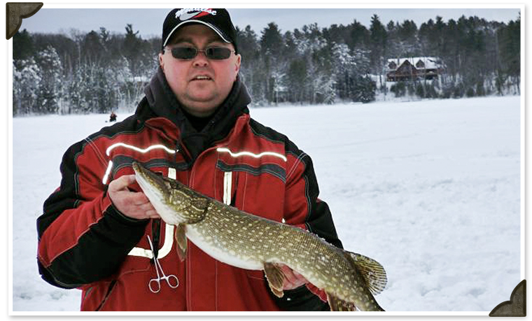 Ice Fishing at Black's Cliff Lakeside Resort