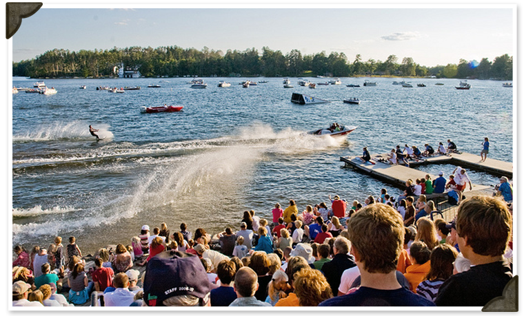 Waterski Show  at Black's Cliff Lakeside Resort